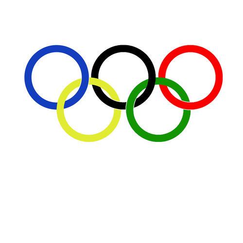 请问奥运会的五色环有哪几个颜色,各代表什么?
