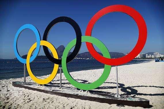 奥运会会旗上五个圆圈代表什么?
