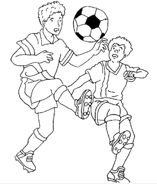 正在踢足球的人怎么简笔画