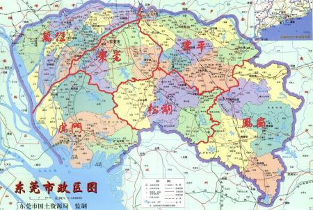 东莞市有几个镇区?