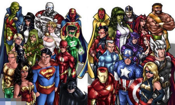 正义联盟和复仇者联盟的成员分别有哪些?