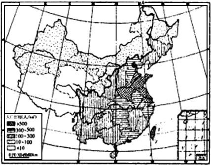 中国人口密度分布_人口的疏密程度可以用什么图来表示(3)