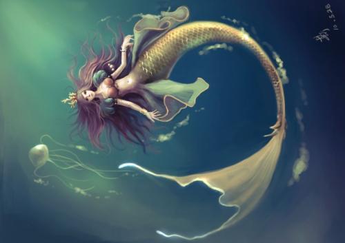 美人鱼怎么画简笔画的最漂亮人鱼的美人鱼
