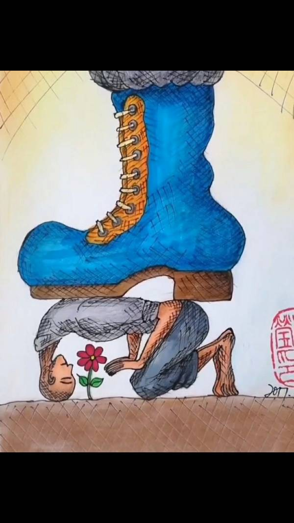 一个人拿刀割脚是什么成语_一个人骑马图片成语