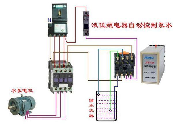 自动手动控制水泵的接线图是什么?