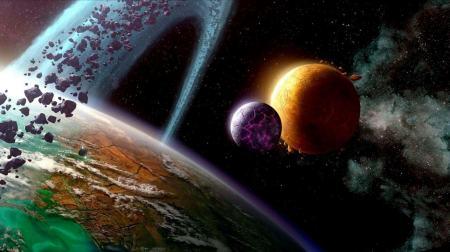 直观感受一下:如果宇宙缩小为地球大小,同步缩小的地球有多大?