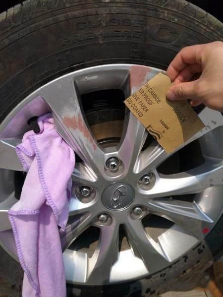 轮毂刮花怎么办?