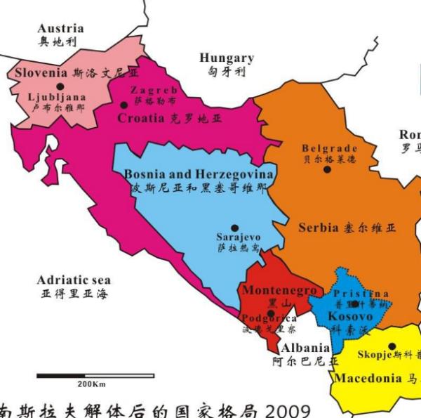南斯拉夫分的几个国家gdp_富可敌国 美国各州GDP地图 加州可比法国