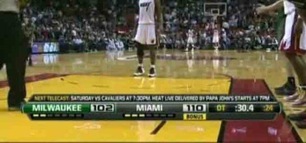 NBA比赛直播,球队比分下面那个的bonus是什么意思?