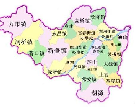 富阳有几个镇