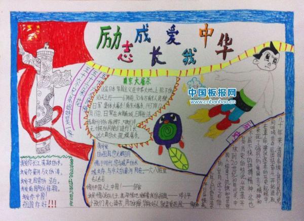 爱我中华的手抄报怎么画 发图片图片