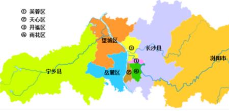 长沙市有哪些区
