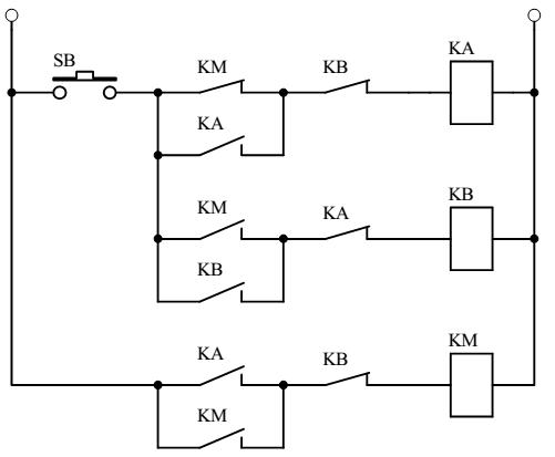 一个交流接触器与启停开关的详细接线图?