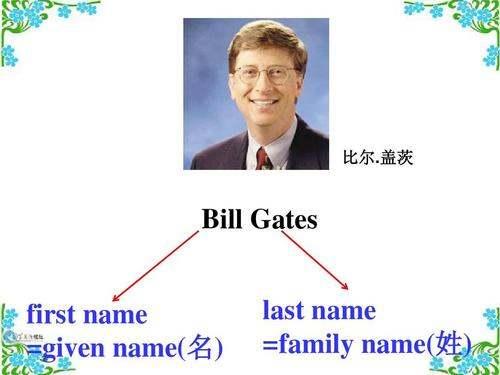 中国人填资料时,first name是名还是姓?