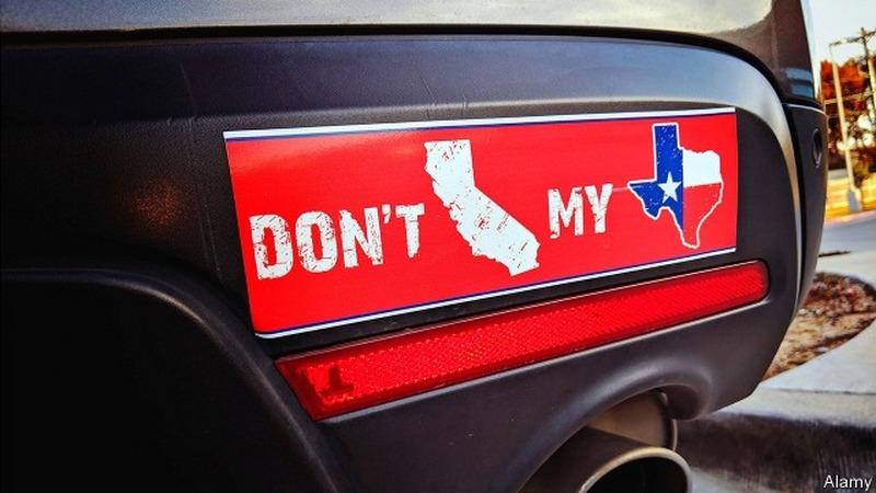 加利福尼亚州和德克萨斯州,哪个更美国?
