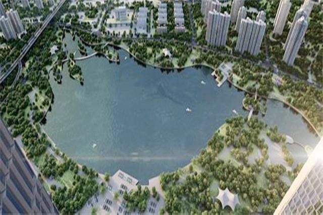 武汉在建一处新的大型公园,还将建一座人工湖,占地多大呢?
