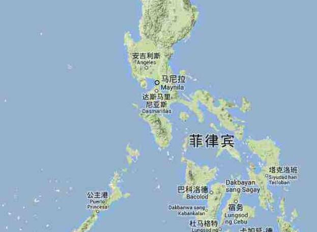 菲律宾地图在中国哪里