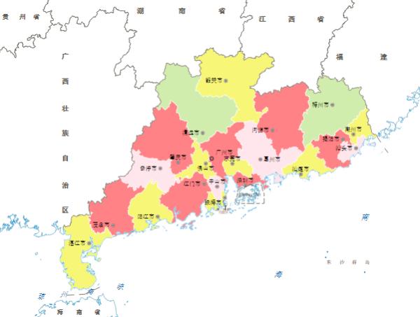 广东省包括哪些城市