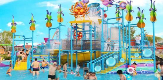 天津欢乐海魔方嬉水乐园的乐园规模