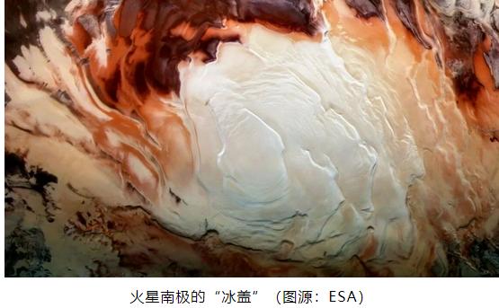 """火星隐藏的极地""""湖泊""""可能只是冰冻的粘土?"""
