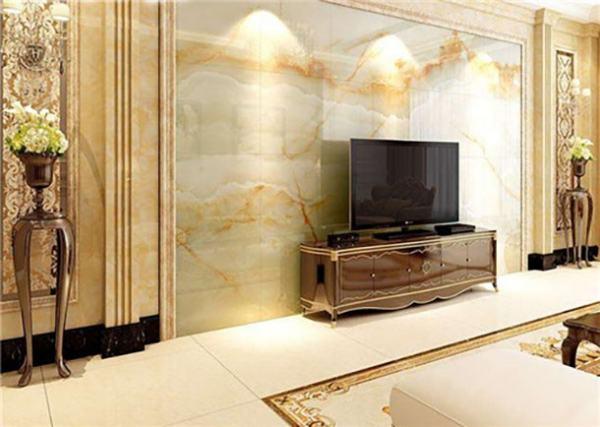 【微晶石电视墙】电视背景墙是用石材的好还是用微晶石的好?-优库网