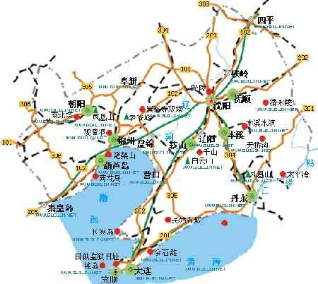 辽宁省地图的内容简介