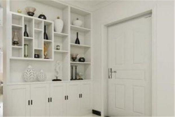 入门玄关较窄,两边是实墙,如何装鞋柜?
