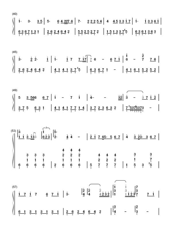 冬眠数字简谱_冬眠钢琴谱简谱数字