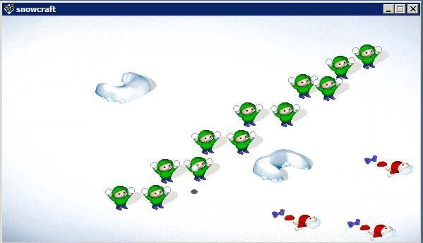 求狠早以前的游戏:打雪仗.
