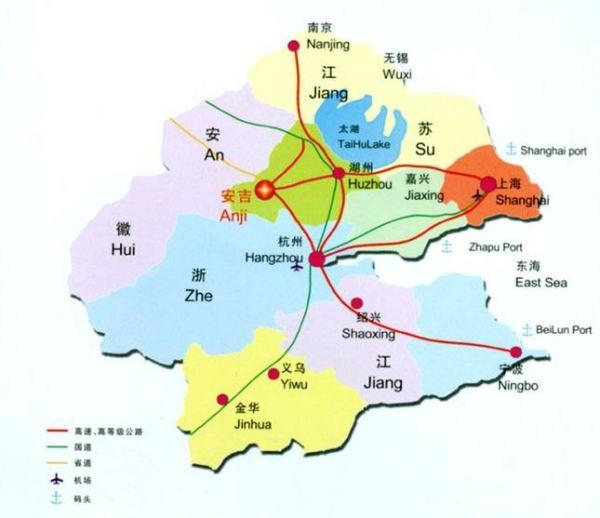 安吉县属于浙江省哪个市